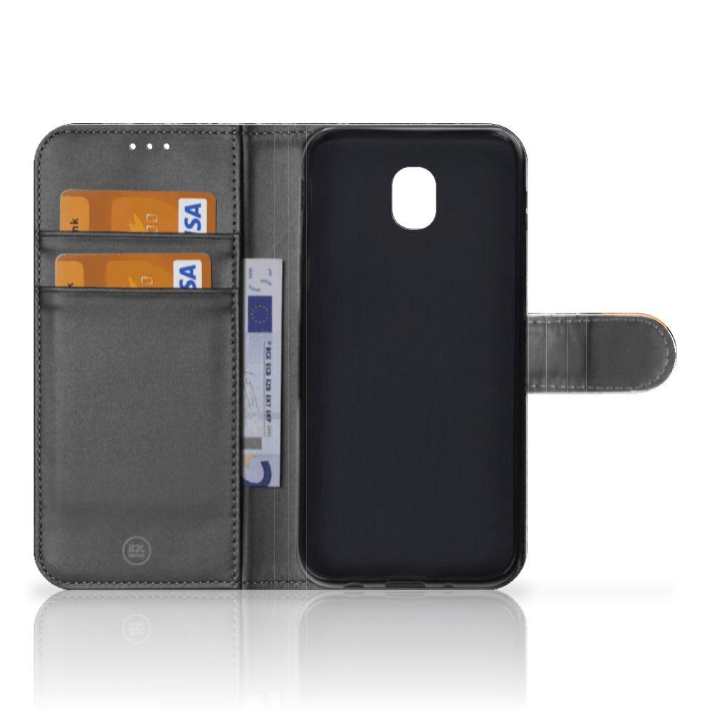Samsung Galaxy J5 2017 Telefoonhoesje met Pasjes Uil