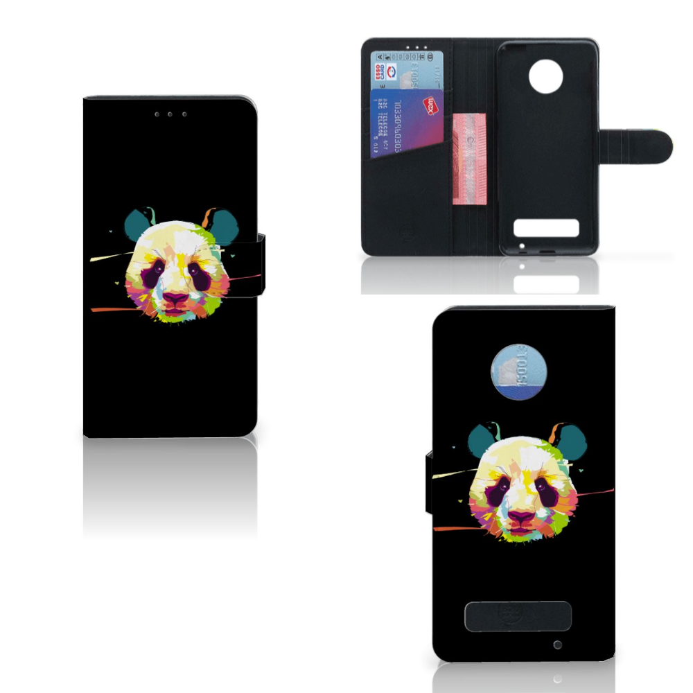 Motorola Moto Z Play Leuke Hoesje Panda Color