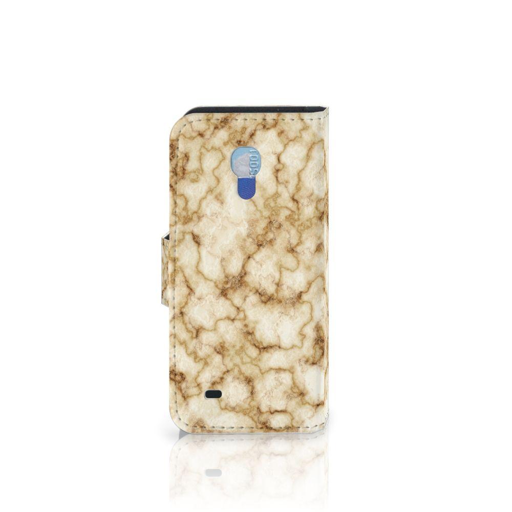 Samsung Galaxy S4 Mini i9190 Bookcase Marmer Goud