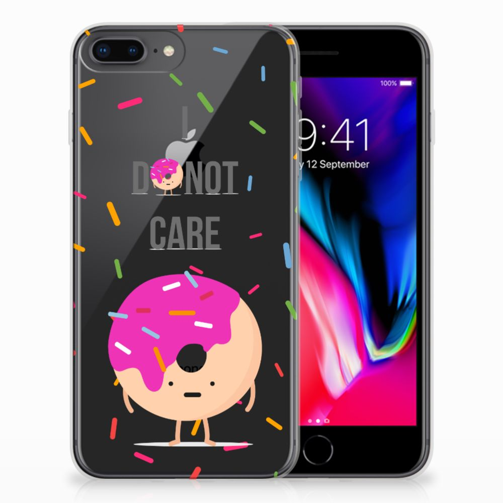 Apple iPhone 7 Plus | 8 Plus Siliconen Case Donut Roze