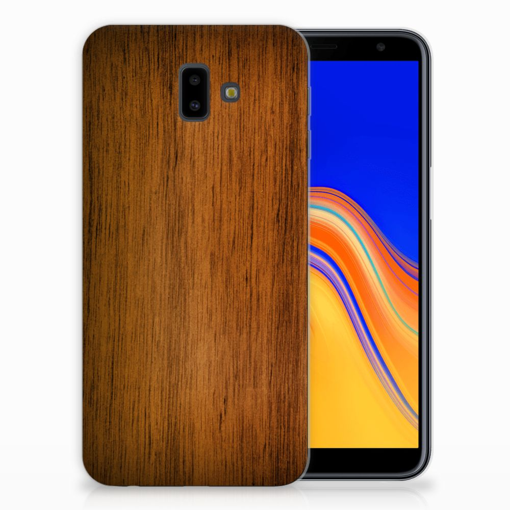 Samsung Galaxy J6 Plus (2018) Bumper Hoesje Donker Hout