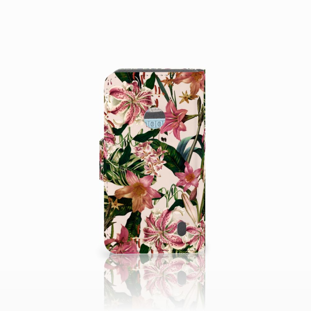 Nokia Lumia 520 Hoesje Flowers