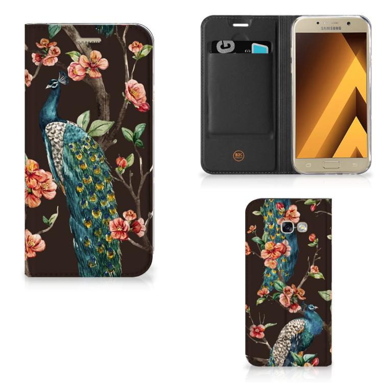 Samsung Galaxy A5 2017 Hoesje maken Pauw met Bloemen