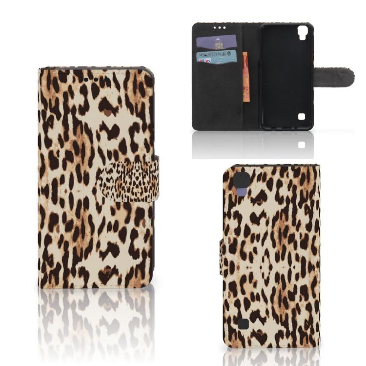 LG X Style Telefoonhoesje met Pasjes Leopard