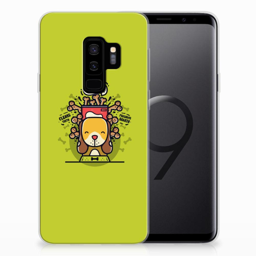 Samsung Galaxy S9 Plus Telefoonhoesje met Naam Doggy Biscuit
