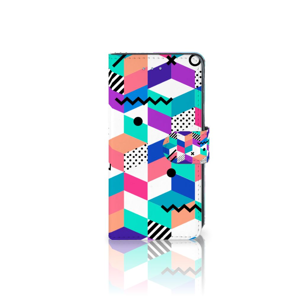 Samsung Galaxy J3 2016 Boekhoesje Design Blocks Colorful