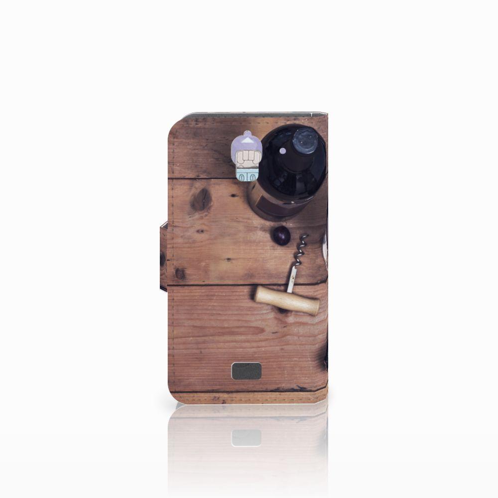 Huawei Y360 Book Cover Wijn