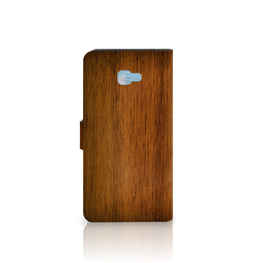 Samsung Galaxy J4 Plus (2018) Book Style Case Donker Hout