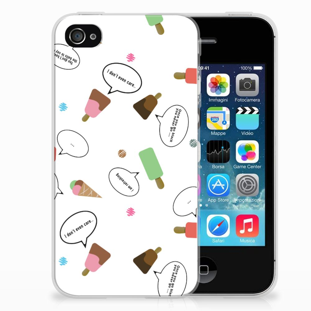 Apple iPhone 4   4s Siliconen Case IJsjes