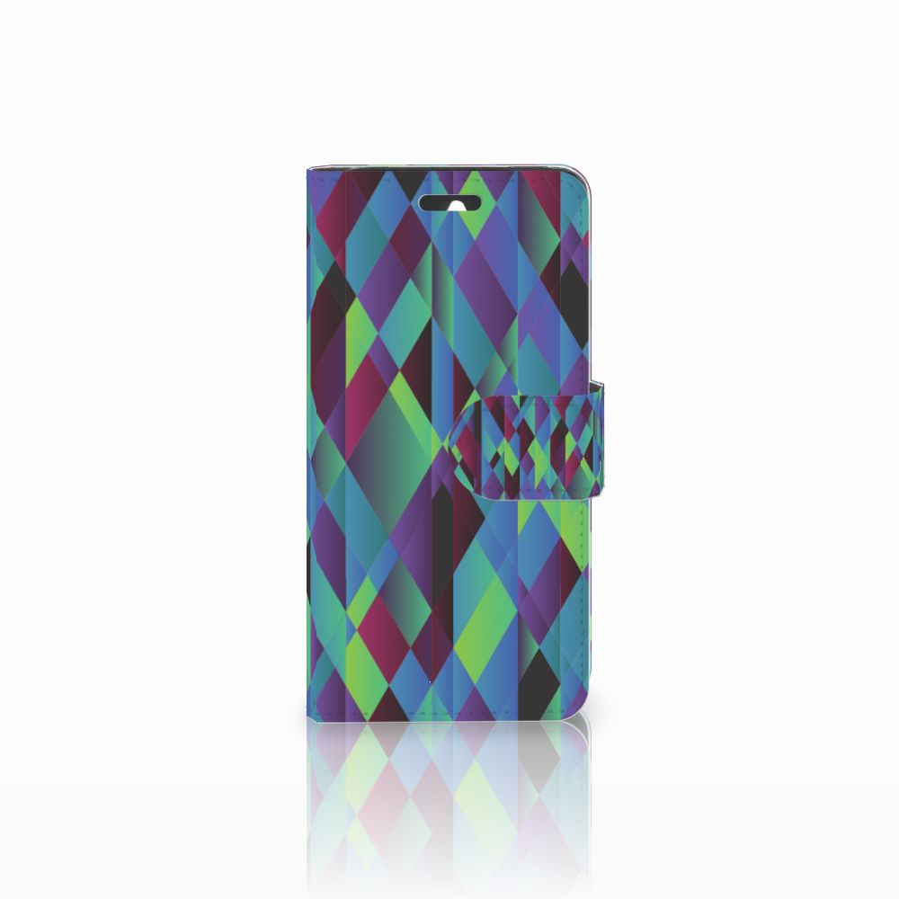 Huawei Ascend Y550 Bookcase Abstract Green Blue