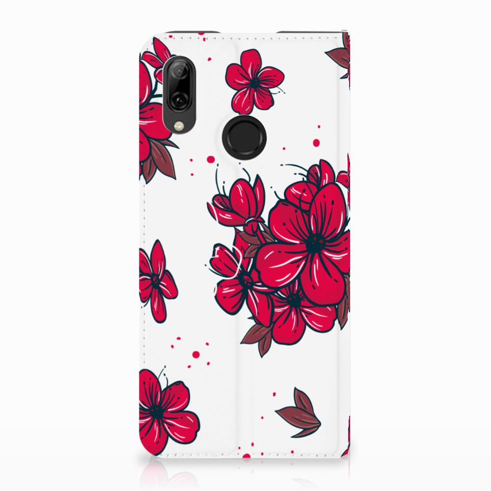 Huawei P Smart (2019) Standcase Hoesje Design Blossom Red