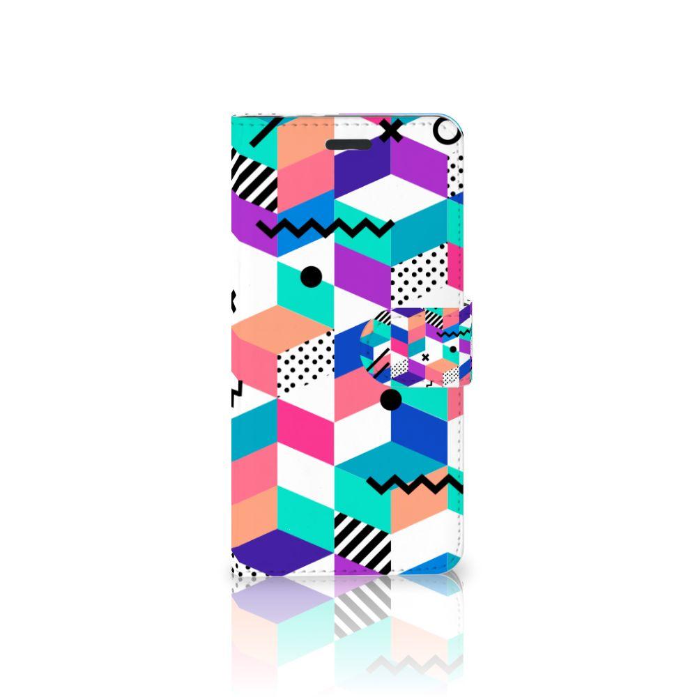 Motorola Moto Z Bookcase Blokken Kleurrijk
