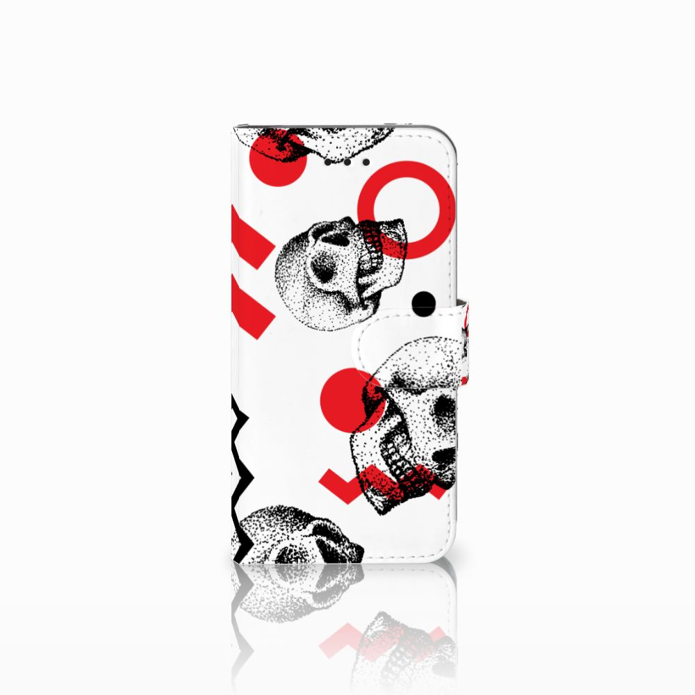 Apple iPhone X | Xs Boekhoesje Design Skull Red