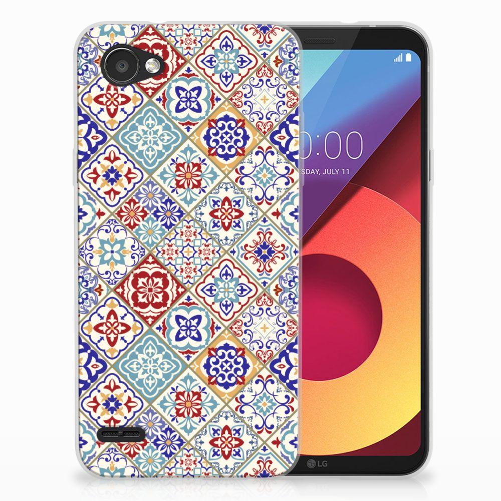 LG Q6 | LG Q6 Plus Uniek TPU Hoesje Tiles Color
