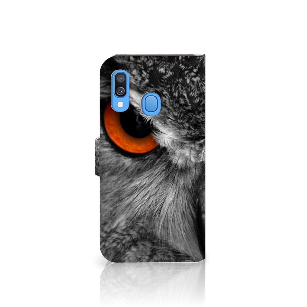 Samsung Galaxy A40 Telefoonhoesje met Pasjes Uil