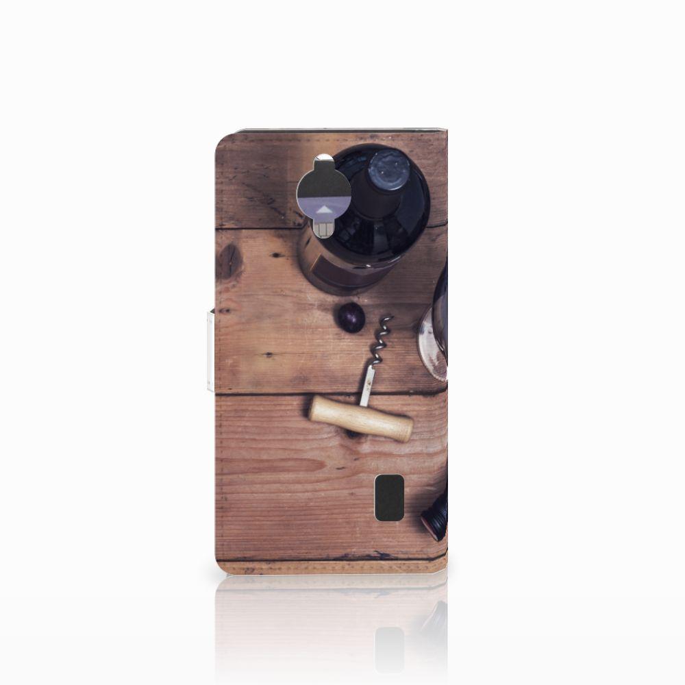 Huawei Y635 Book Cover Wijn