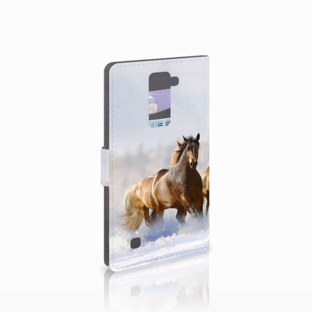 LG K10 2015 Uniek Boekhoesje Paarden