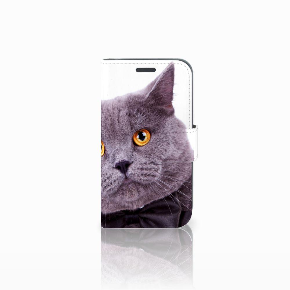 Samsung Galaxy J1 2016 Telefoonhoesje met Pasjes Kat