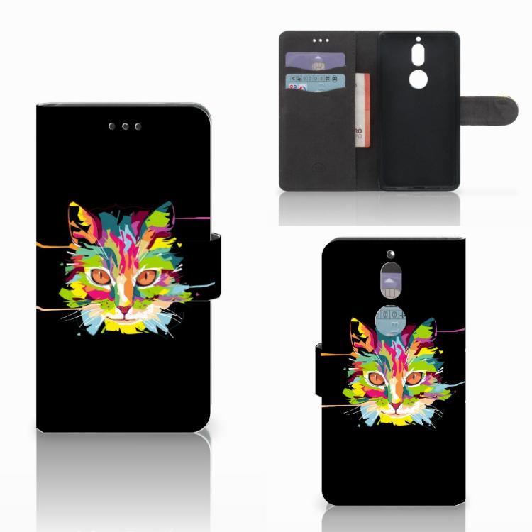 Nokia 7 Leuk Hoesje Cat Color
