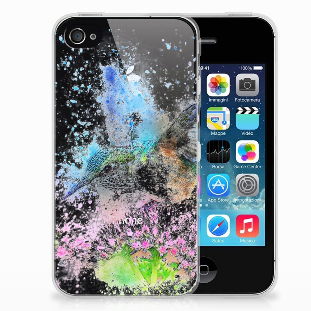 Apple iPhone 4 | 4s TPU Hoesje Design Vogel