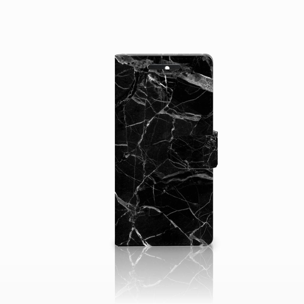 HTC Desire 628 Uniek Boekhoesje Marmer Zwart
