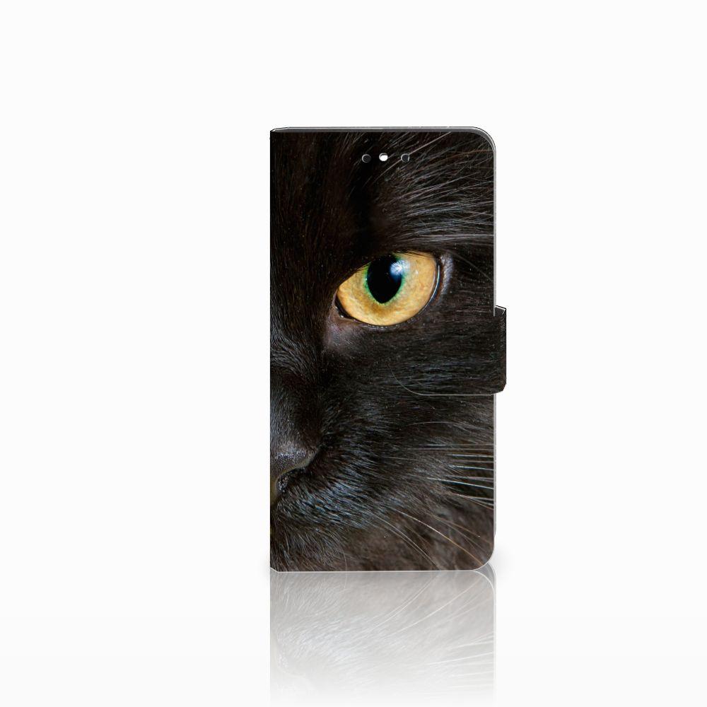Huawei P8 Lite Smart (GR3) Uniek Boekhoesje Zwarte Kat