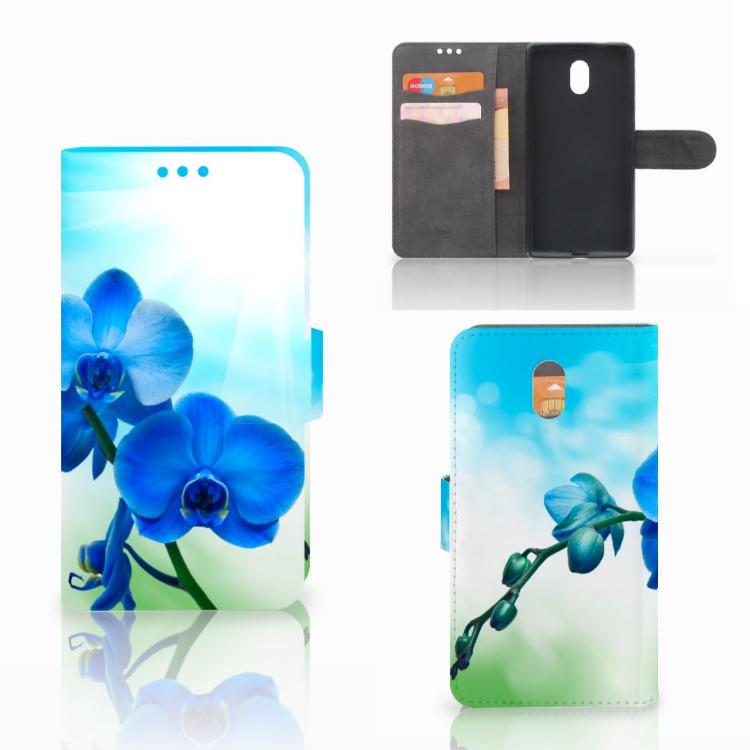 Nokia 3 Hoesje Orchidee Blauw - Cadeau voor je Moeder