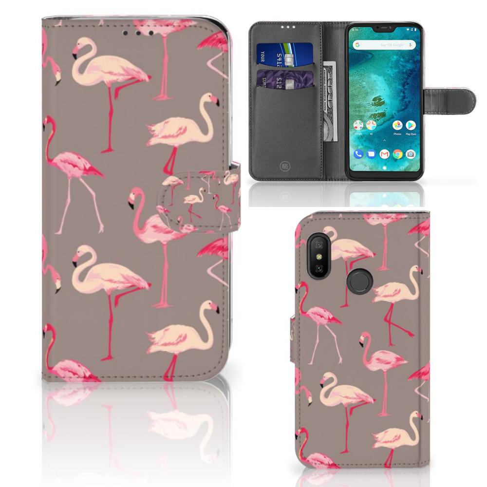 Xiaomi Mi A2 Lite Telefoonhoesje met Pasjes Flamingo