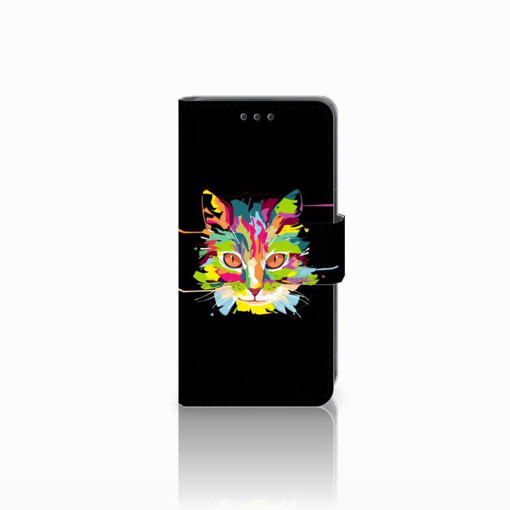 Nokia Lumia 630 Uniek Boekhoesje Cat Color