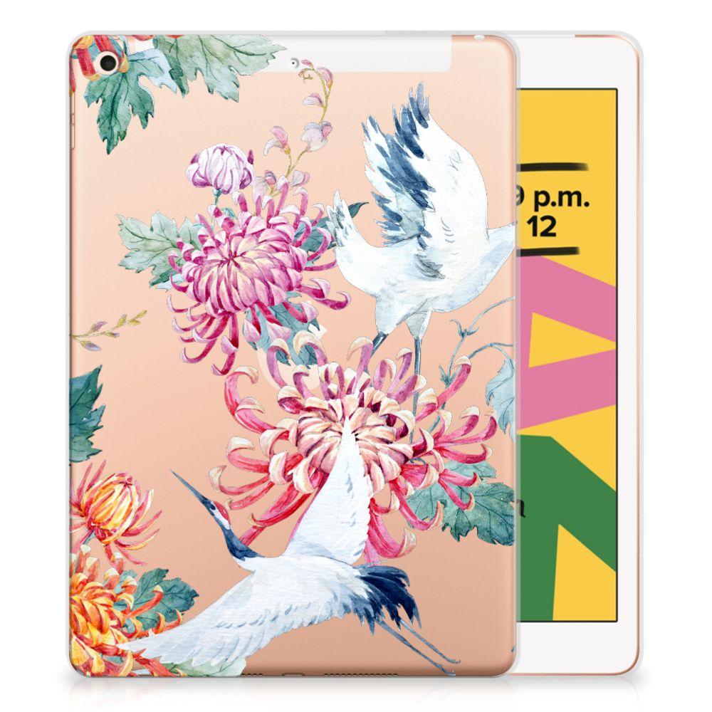 Apple iPad 10.2 (2019) Back Case Bird Flowers