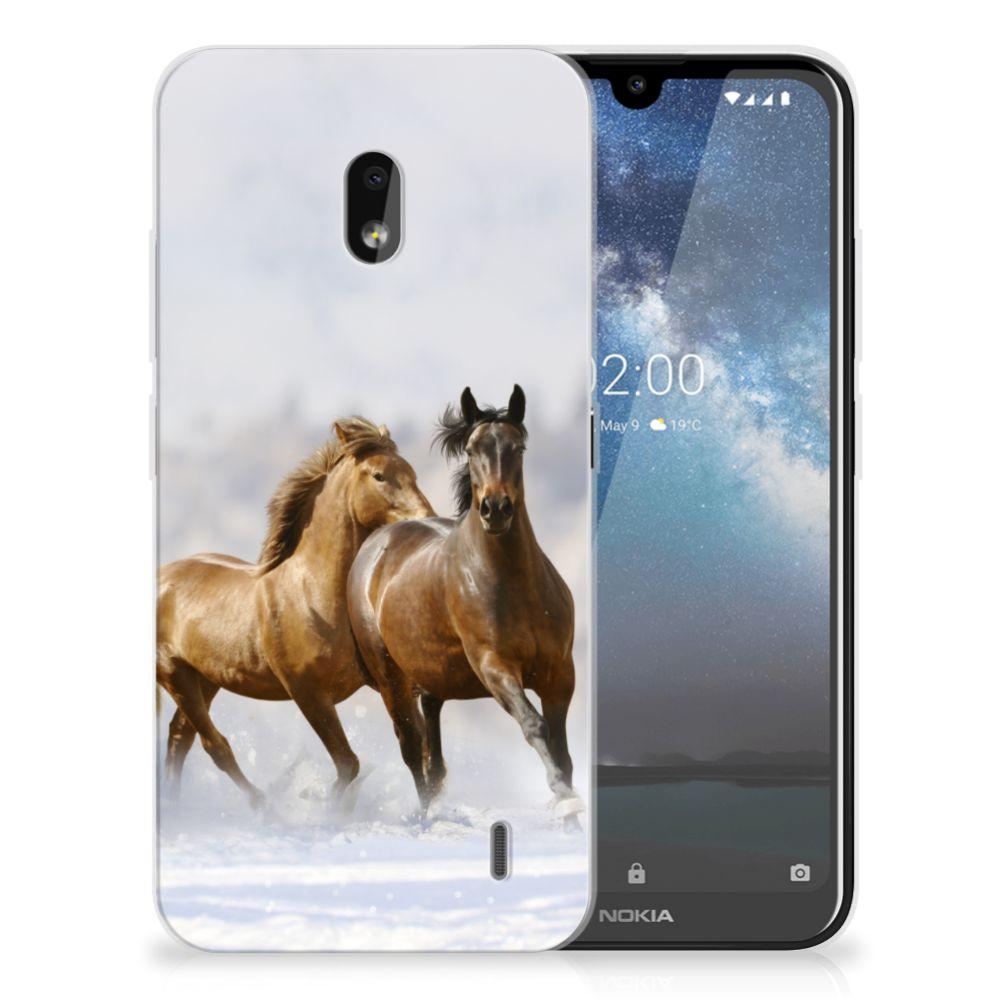Nokia 2.2 TPU Hoesje Paarden