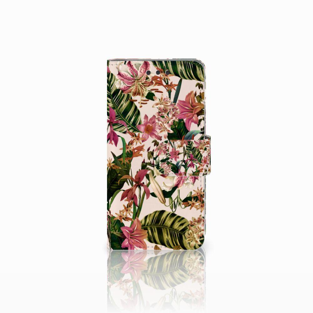 Samsung Galaxy A3 2016 Uniek Boekhoesje Flowers