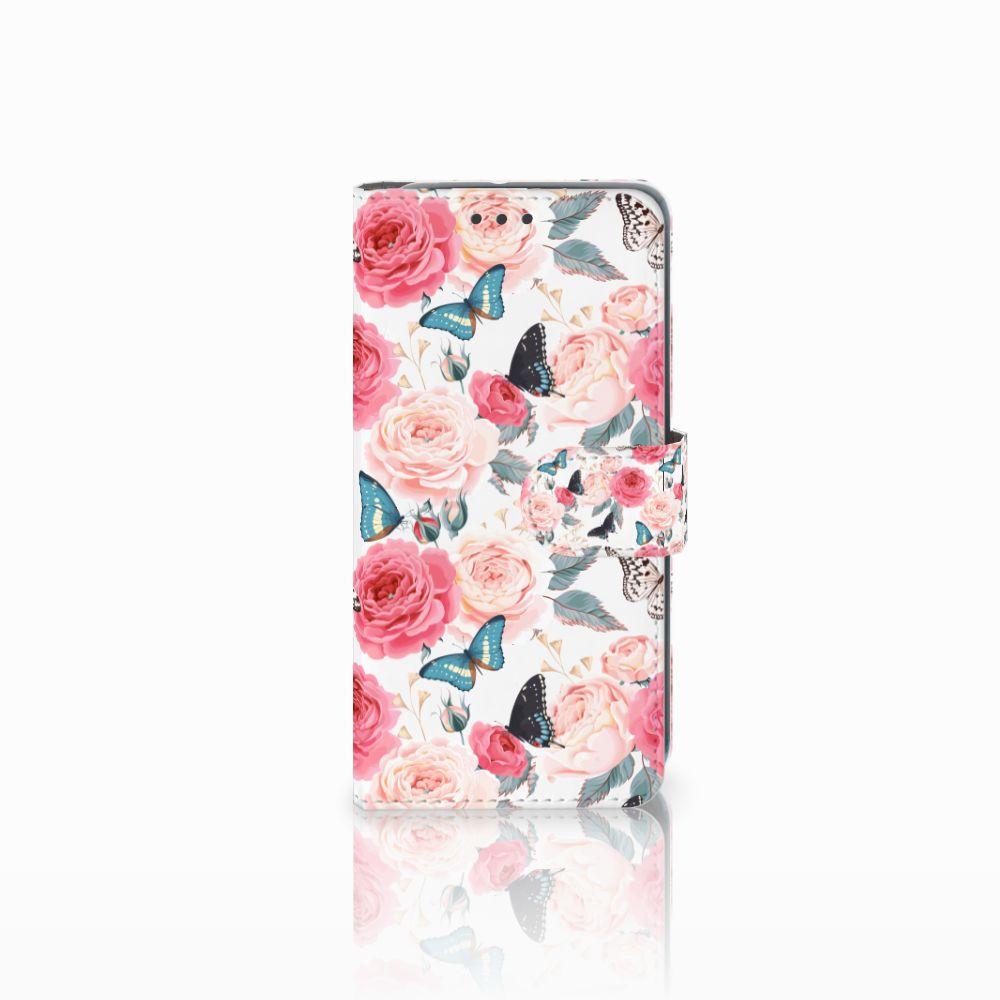 HTC U11 Life Uniek Boekhoesje Butterfly Roses