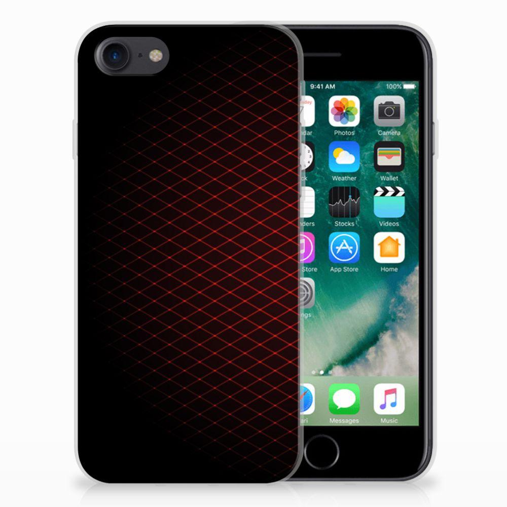 iPhone SE (2020) | 7/8 TPU bumper Geruit Rood