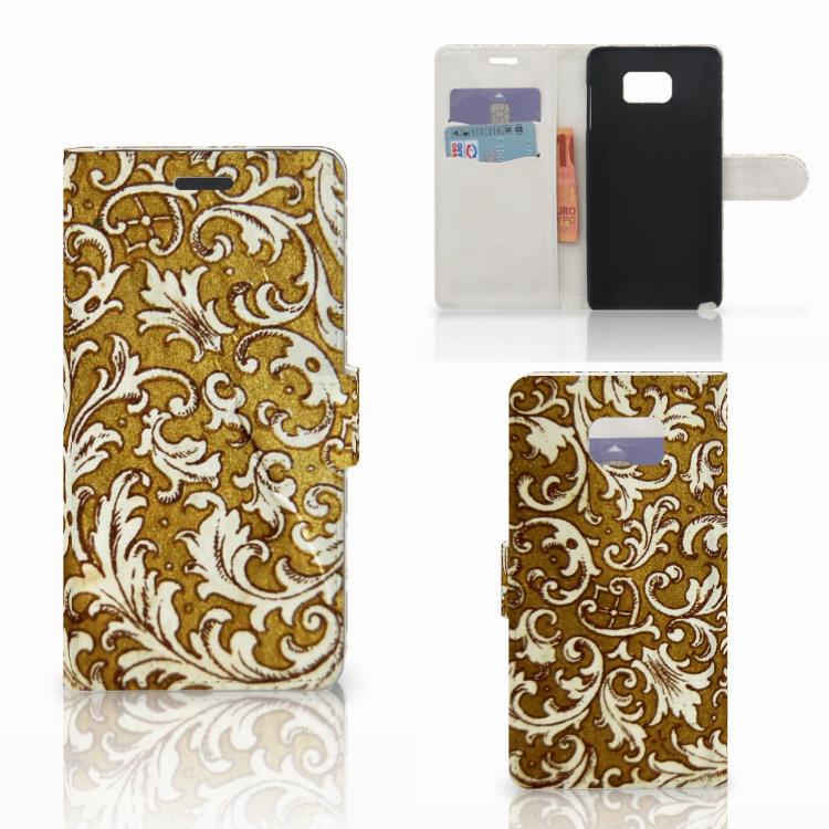 Wallet Case Samsung Galaxy Note 5 Barok Goud