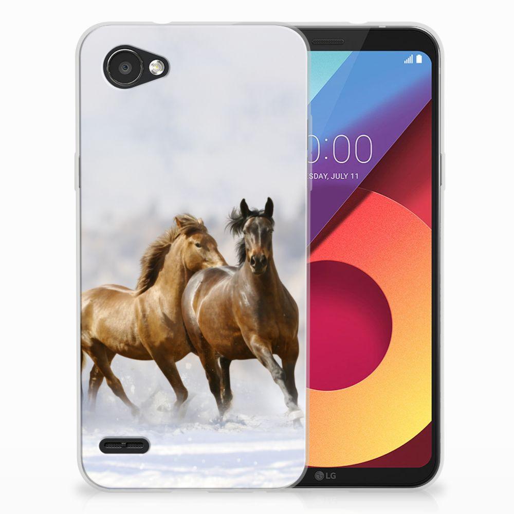 LG Q6 | LG Q6 Plus Uniek TPU Hoesje Paarden