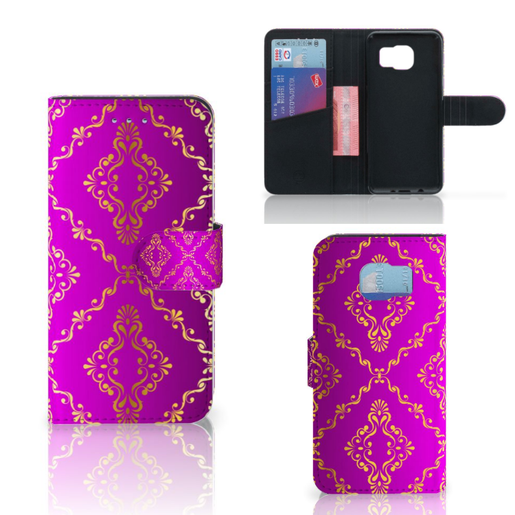 Wallet Case Samsung Galaxy S6   S6 Duos Barok Roze