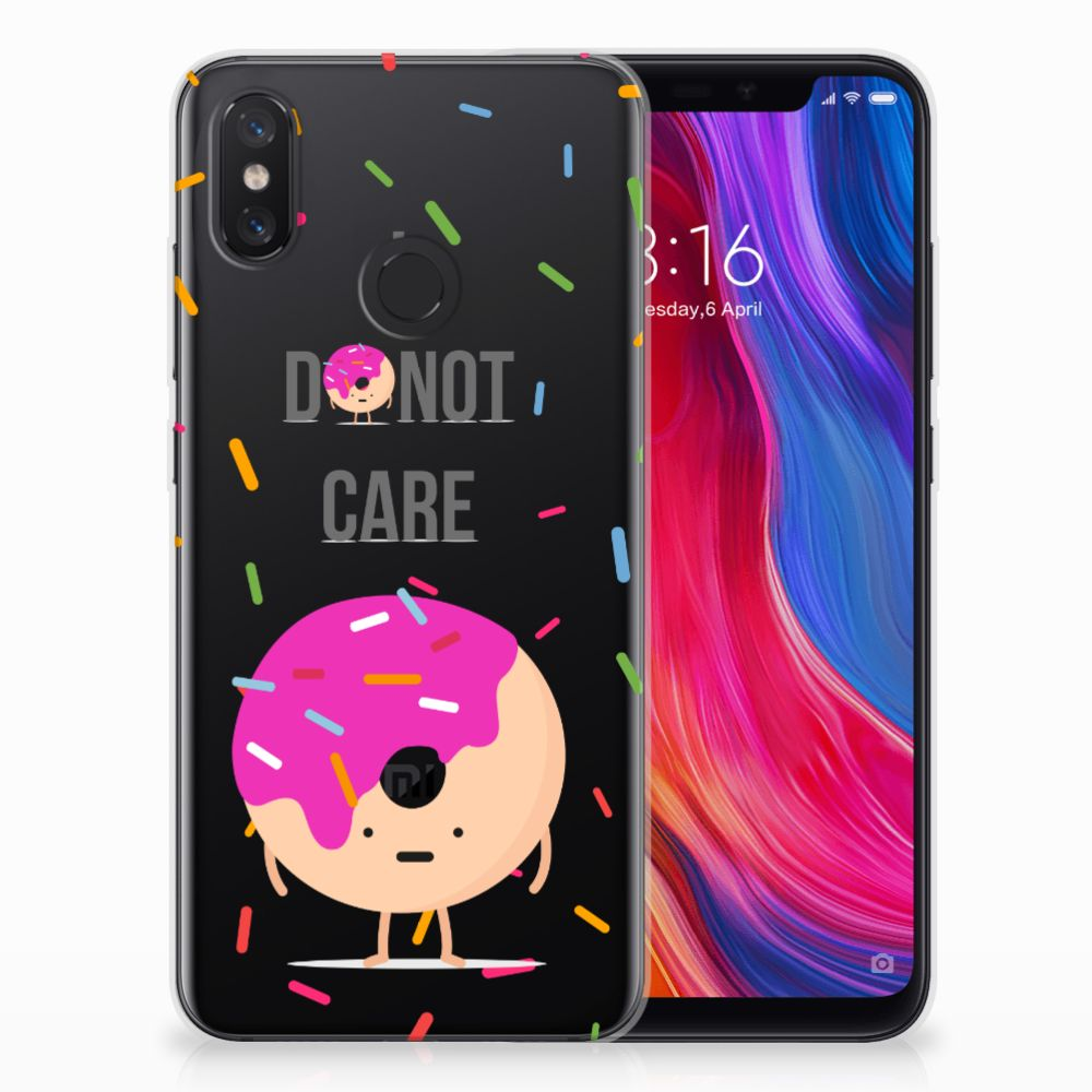 Xiaomi Mi 8 Siliconen Case Donut Roze