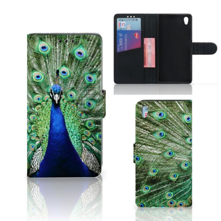 Sony Xperia Z5 | Z5 Dual Telefoonhoesje met Pasjes Pauw