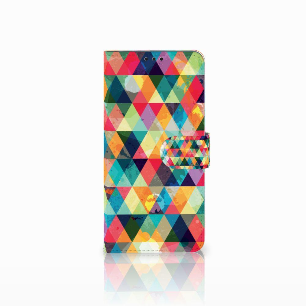 Huawei P Smart Plus Uniek Boekhoesje Geruit
