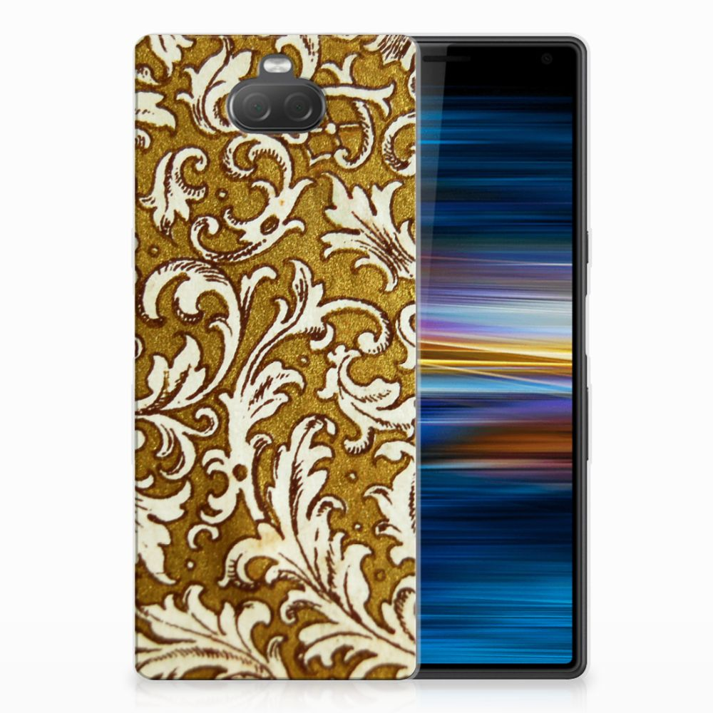 Sony Xperia 10 TPU Hoesje Design Barok Goud