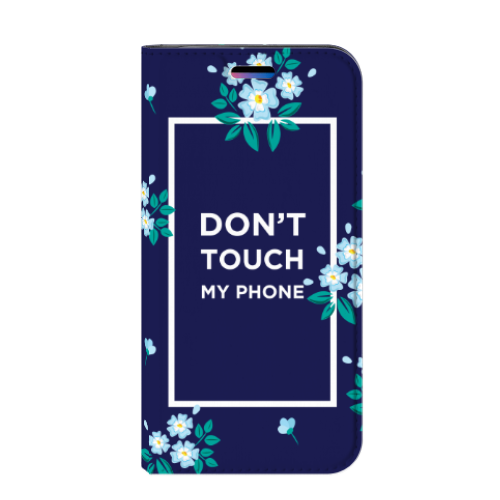 Apple iPhone X | Xs Standcase Hoesje Flowers Blue DTMP