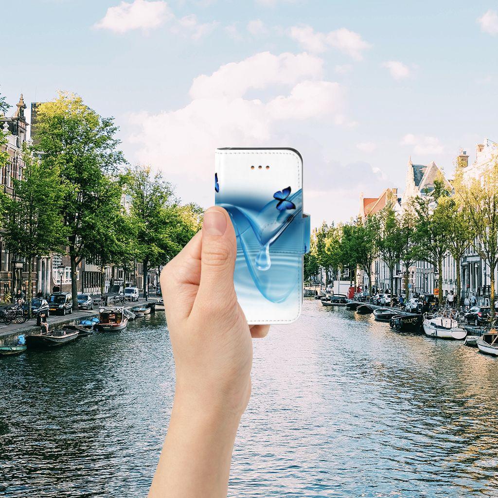 Apple iPhone 5C Telefoonhoesje met Pasjes Vlinders