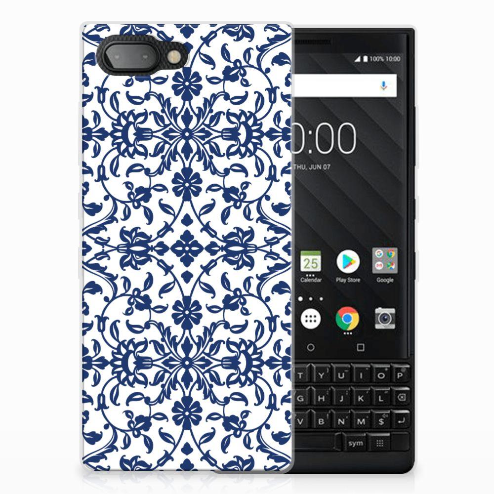 BlackBerry Key2 TPU Hoesje Flower Blue