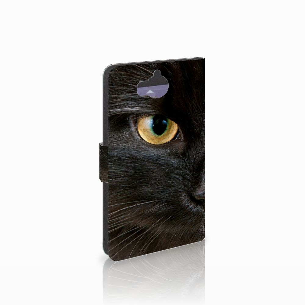 Huawei Y5   Y6 2017 Telefoonhoesje met Pasjes Zwarte Kat