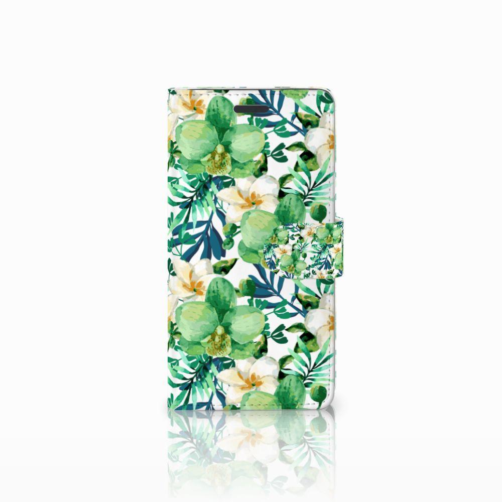 Samsung Galaxy Note 5 Uniek Boekhoesje Orchidee Groen