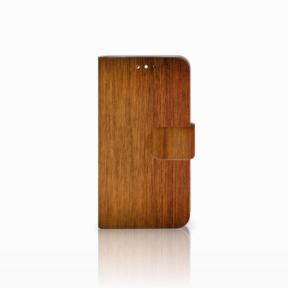 LG G3 S Uniek Boekhoesje Donker Hout