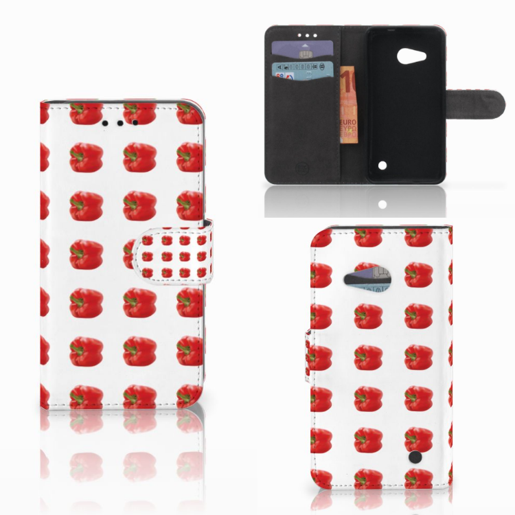 Microsoft Lumia 550 Book Cover Paprika Red