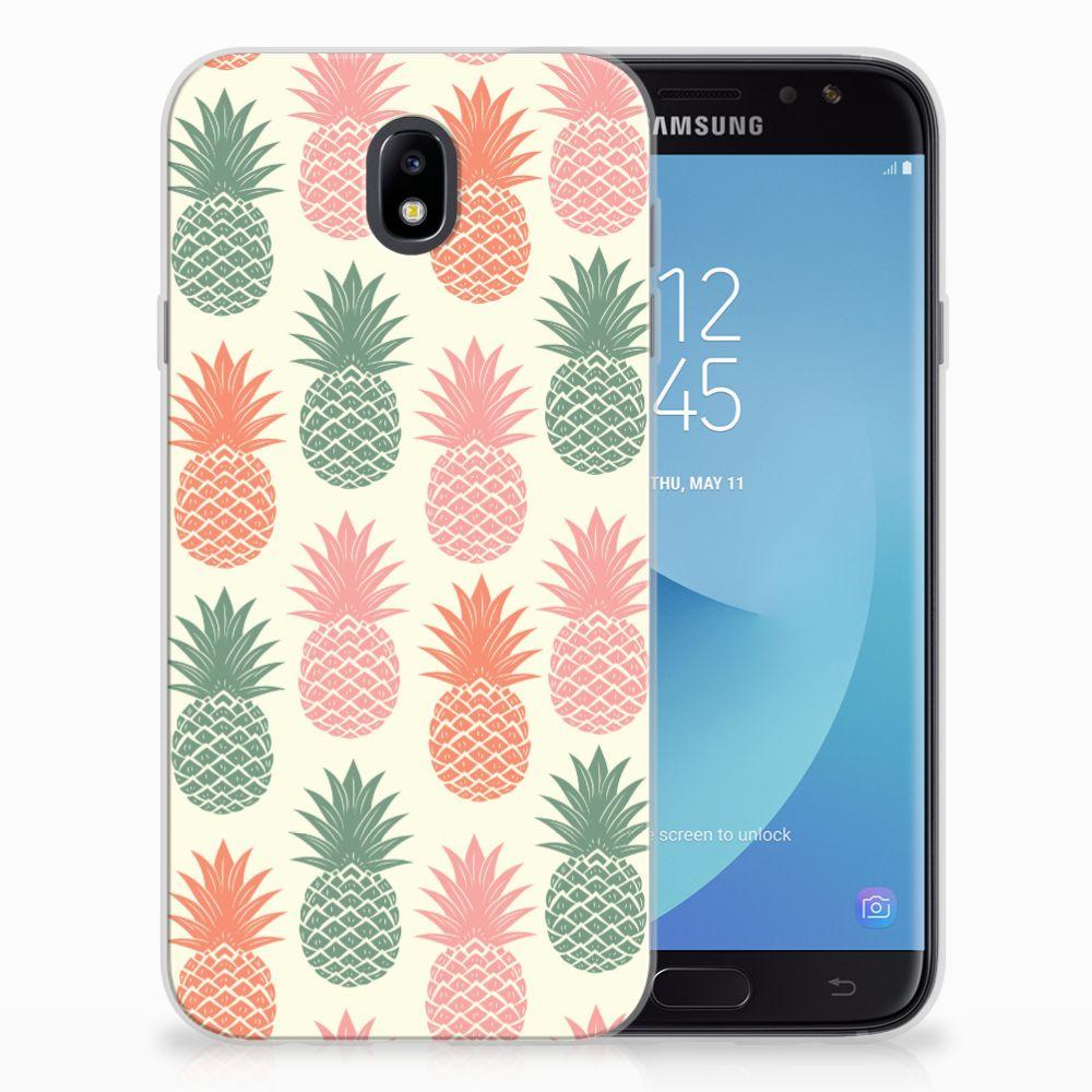 Samsung Galaxy J7 2017 | J7 Pro Siliconen Case Ananas
