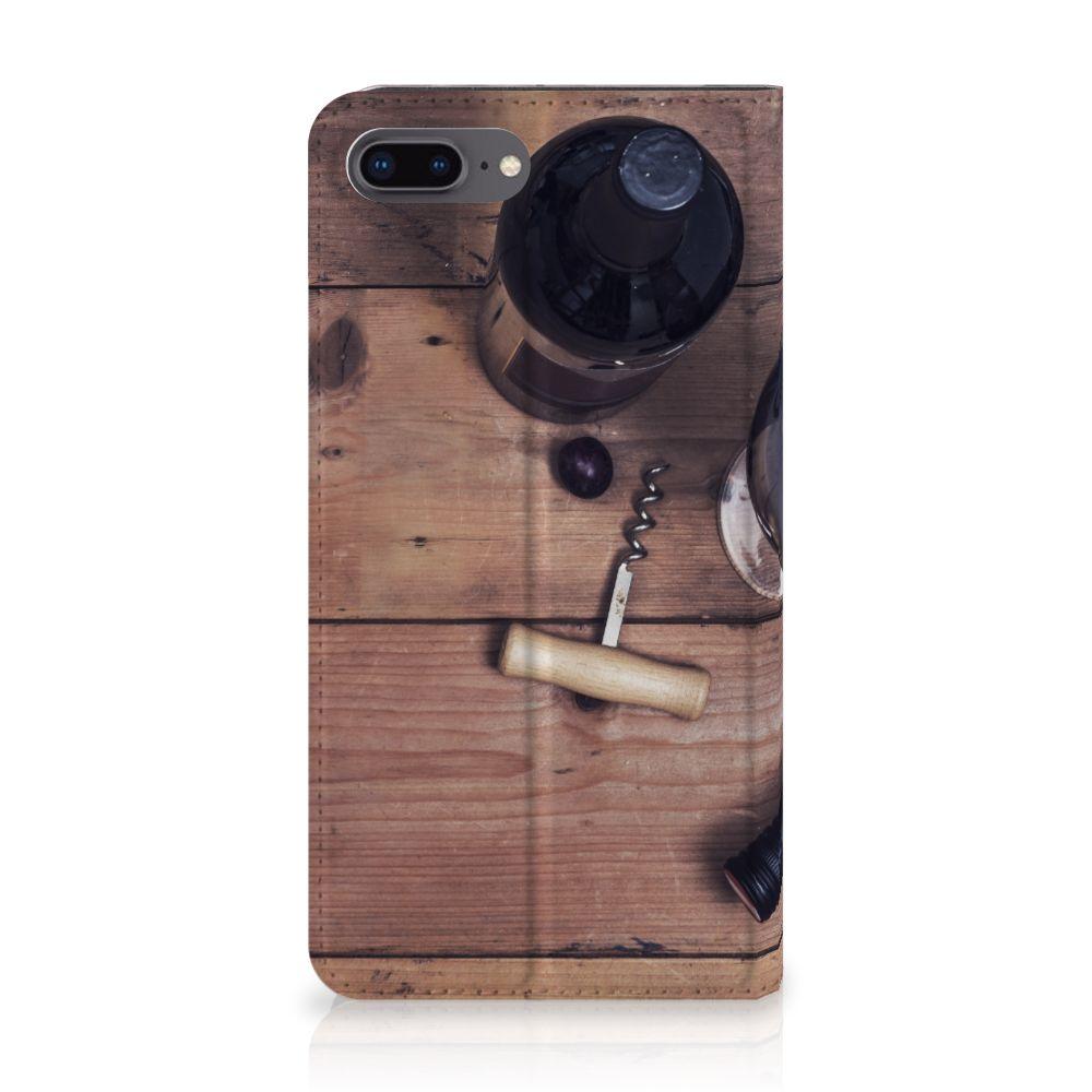 Apple iPhone 7 Plus   8 Plus Flip Style Cover Wijn